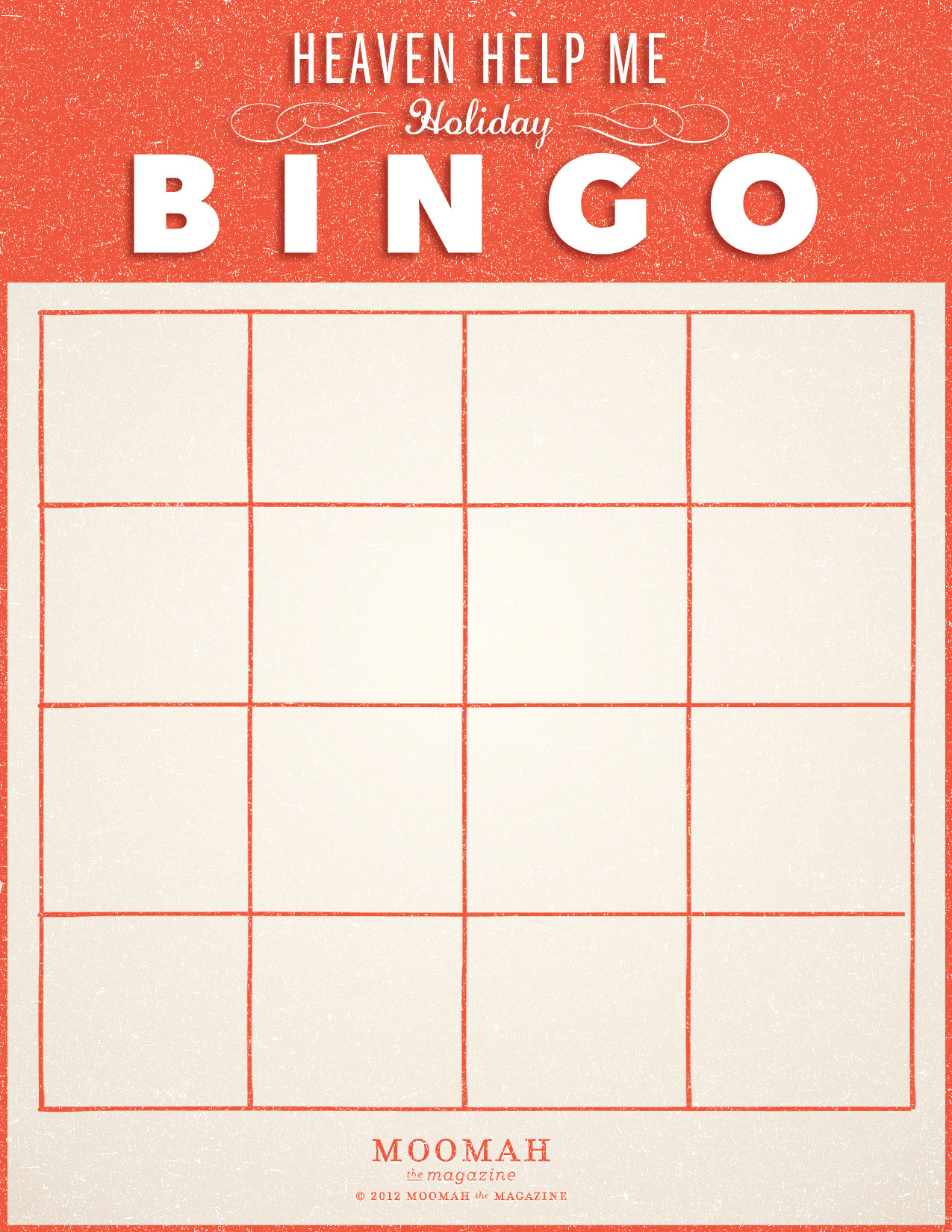 Pin Blank Bingo Board Template on Pinterest