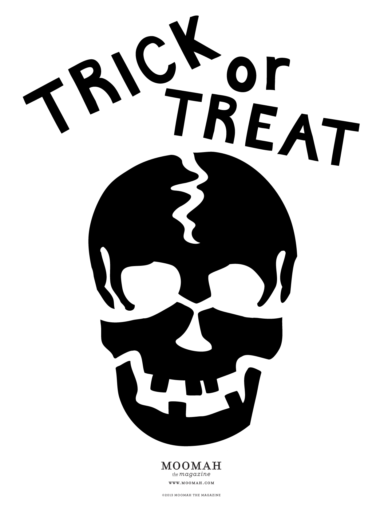 personalized trick or treat bag - Halloween Skeleton Template