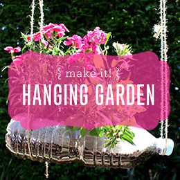 Reusing Our Plastic: Vertical Hanging Garden