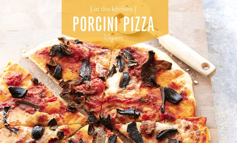 Black Garlic and Porcini Pizza