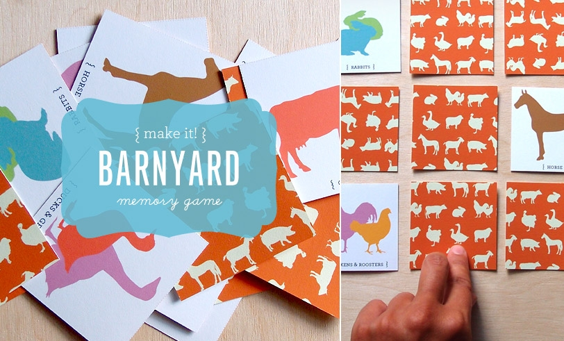 Make Nice Mission: Barnyard Memory Game