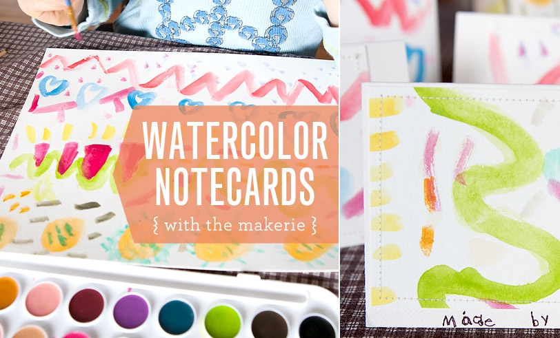 Watercolor Notecards with the Makerie