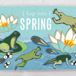 Hop Into Spring: Tadpole to Frog Placemat